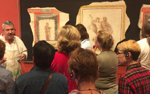iLia Fresco teaching fresco workshop at the Getty Institute